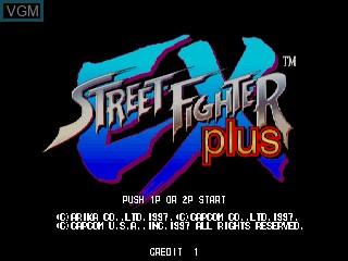 Image de l'ecran titre du jeu Street Fighter EX Plus sur Zinc
