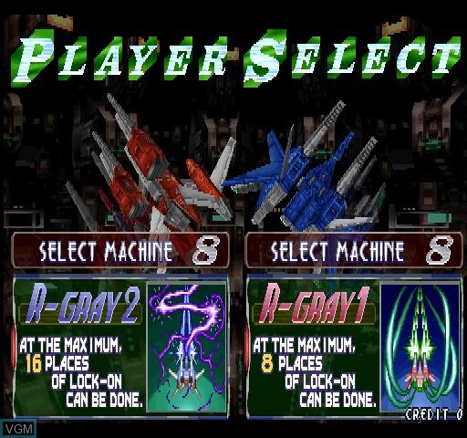 Image du menu du jeu Raystorm sur Zinc