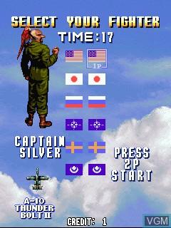 Image du menu du jeu Sonic Wings Limited sur Zinc