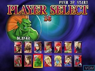 Image du menu du jeu Street Fighter EX 2 sur Zinc