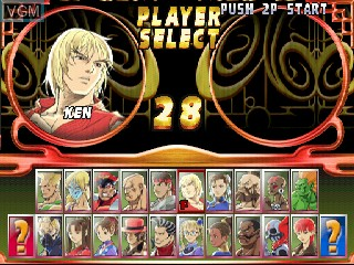 Image du menu du jeu Street Fighter EX 2 Plus sur Zinc