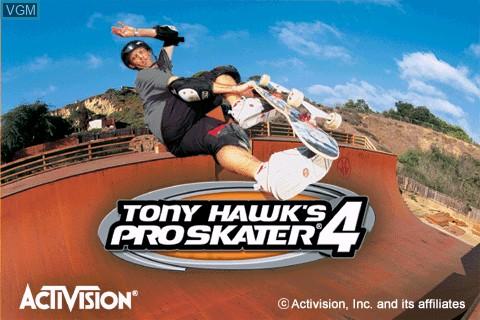 Image de l'ecran titre du jeu Tony Hawk's Pro Skater 4 sur Tapwave Zodiac