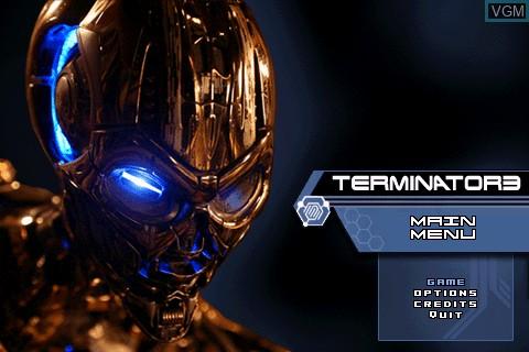 Image de l'ecran titre du jeu Terminator 3 sur Tapwave Zodiac