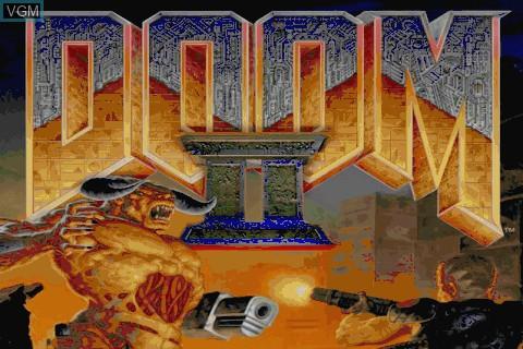 Image de l'ecran titre du jeu Doom II sur Tapwave Zodiac