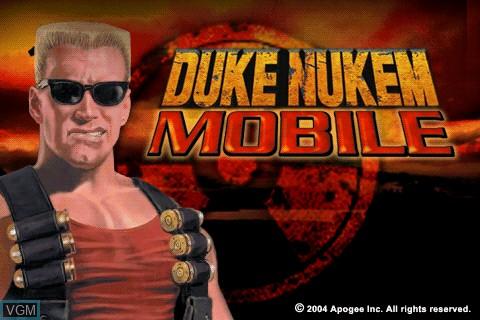 Image de l'ecran titre du jeu Duke Nukem Mobile sur Tapwave Zodiac