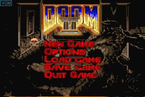 Image du menu du jeu Doom II sur Tapwave Zodiac