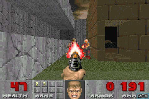 Image in-game du jeu Doom II sur Tapwave Zodiac