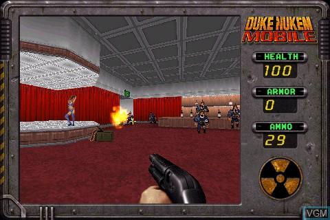 Image in-game du jeu Duke Nukem Mobile sur Tapwave Zodiac